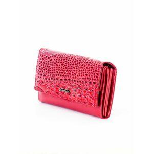 Dámská reliéfní peněženka z imitací krokodýlí kůže PN22-BFC - FPrice červená one size