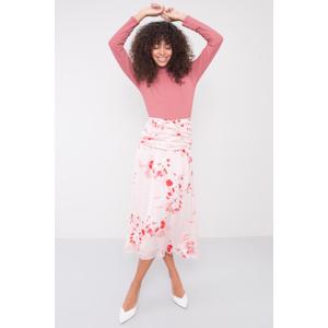 Dámská vzorovaná sukně 15523 - BSL růžová-červená S