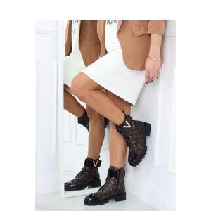 Dámské boty NC1073 - Inello  černo-hnědá 39