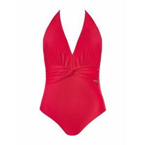 Dámské jednodílné plavky S 1064 - Self červená 42/XL