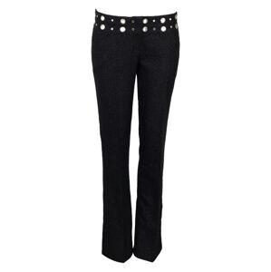 Dámské kalhoty - Koucla černá s stříbrnou nitkou 40