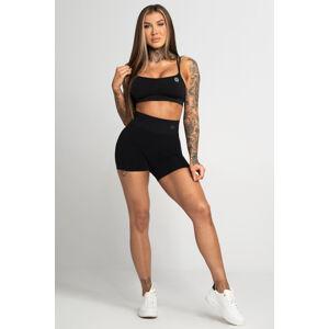 Dámské kraťasy bezešvé Seamless shorts Black - Gym Glamour černá XS