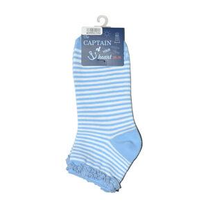 Dámské ponožky 55215 Captain Of Your Heart - WiK oranžová-bílá 35-38