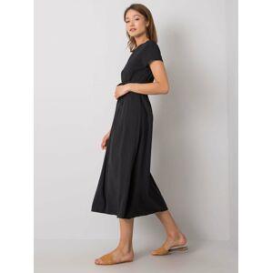 Dámské puntíkované šaty 1261 - FPrice bílá s puntíkem one size