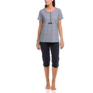 Dámské pyžamo 12410 - Vamp tmavě modrá s bílou XL