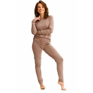 Dámské pyžamo 2553 Maya - TARO hnědá S