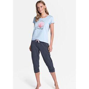 Dámské pyžamo 38897 - Henderson modrá a černá M