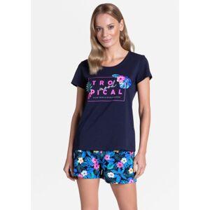 Dámské pyžamo Henderson 38905 M Tm. modrá