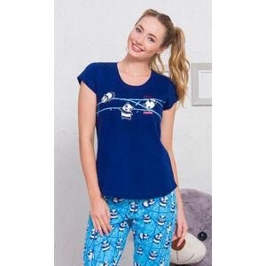 Dámské pyžamo kapri Malá panda světle šedá XXL