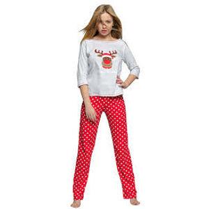 Dámské pyžamo Marry Christmas šedočervená - Sensis šedo-červená XL