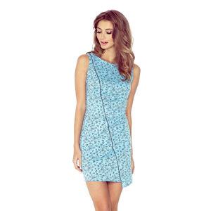 Dámské šaty 004-5 - MORIMIA modrá s potiskem XS