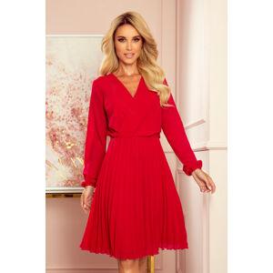 Dámské šaty  313-5 ISABELLE - NUMOCO červená XS