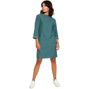 dámské šaty model 124052 - BEwear tyrkysová M