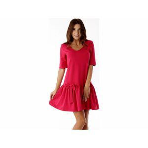 Dámské šaty ED005-1 - Ella Dora tmavě růžová L-40