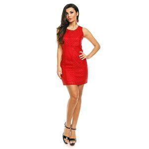 Dámské značkové šaty moderní AIKHA krátké červené - Červená - Aikha L