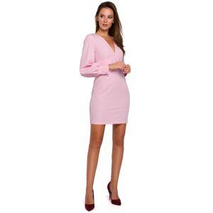 Dámské šaty K027 - Makover pudrovo-růžová 42/XL