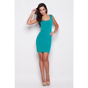 Dámské šaty K081 green zelená L