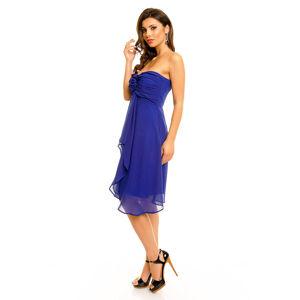 Dámské společenské značkové šaty MAYAADI středně dlouhé tmavě modré - Tmavě modrá - MAYAADI XL
