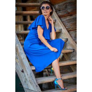 Dámské šaty model 133672 - Awama královská modř M