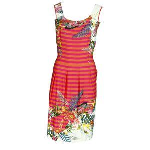 Dámské šaty Paprad/B Tia šat - Favab růžová-oranžová L