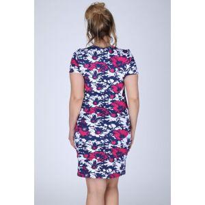 Dámské šaty s květinovým vzorem i pro plnoštíhlé barevné - Barevná - Efect 40