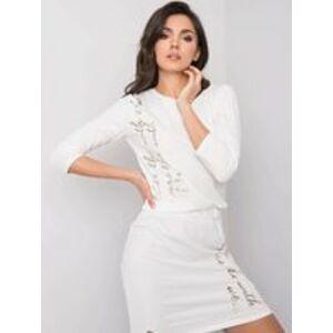 Dámské šaty s nápisy 011.31P - Relevance fashion ecri(krémová) one size