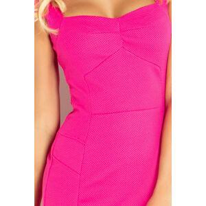 Dámské společenské a casual šaty s krátkým rukávem malinové - Malinová / S - Numoco růžová S