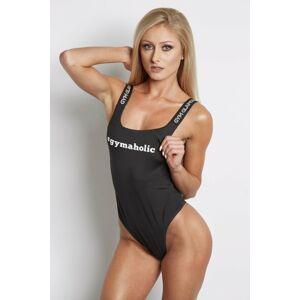 Dámské sportovní body - Gym Glamour černá-text XS