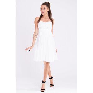 Dámské značkové šaty EVA & LOLA s rozšířenou sukní bílé - Bílá / S - EVA&LOLA bílá S