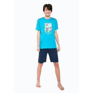 Dětské pyžamo Cornette 519/37 170/S Světle modrá 170/S Světle modrá