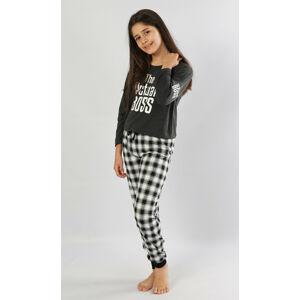 Dětské pyžamo dlouhé Actual boss tmavě šedá 9 - 10