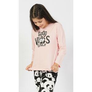 Dětské pyžamo dlouhé Good vibes only černá 9 - 10