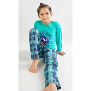 Dětské pyžamo dlouhé Matěj zelená 9 - 10