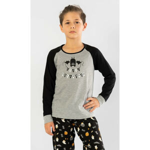 Dětské pyžamo dlouhé Netopýr oranžová 9 - 10