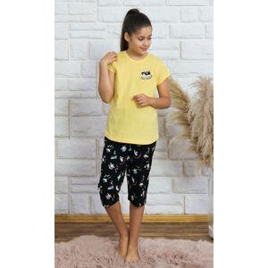 Dětské pyžamo kapri Malý tučňák žlutá 9 - 10