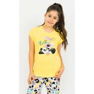Dětské pyžamo kapri Panda a muffin lososová 13 - 14