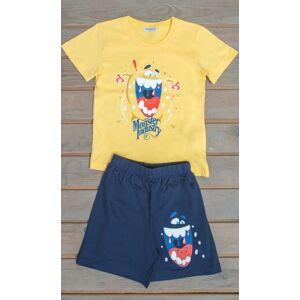 Dětské pyžamo šortky Monster tyrkysová 7 - 8