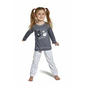 Dívčí pyžamo 379/131 Swan - CORNETTE šedá 98/104