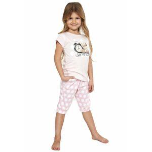 Dívčí pyžamo Time to sleep - CORNETTE růžová 146/152