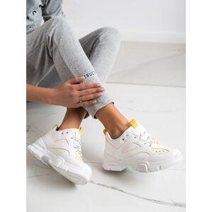 Exkluzívní dámské  tenisky bílé bez podpatku 40