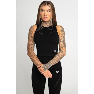 Gym Glamour Top Asymetrický Black L
