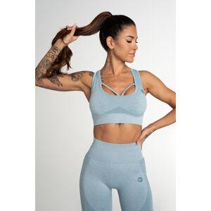 Gym Glamour Bezešvá Podprsenka Fusion Blue XS