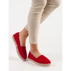 Jedinečné dámské  tenisky červené bez podpatku 40