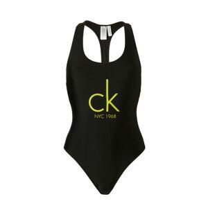 Jednodílné plavky KW0KW00041-001 - Calvin Klein černá XS