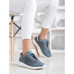 Klasické  tenisky modré dámské bez podpatku 40
