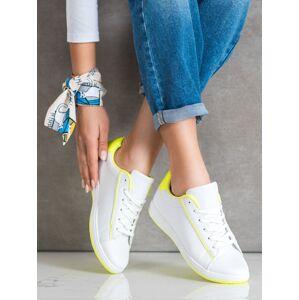 Komfortní dámské  tenisky bílé bez podpatku 40