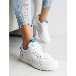 Komfortní  tenisky bílé dámské bez podpatku 36