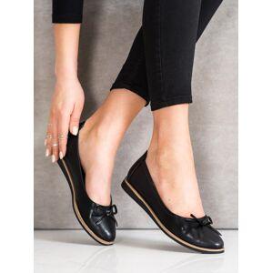 Luxusní černé dámské  baleríny bez podpatku 40