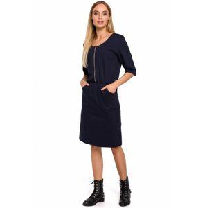 M476 Dress with a zip  EU S naveyblue