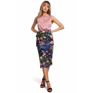 Zavinovací sukně M500 s květinovým potiskem - model EU M model1